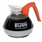Bunn EASYPOUR-OR-0101 Easy Pour Coffee Decanter W/ SS Base, Orange Handle