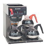 Bunn CWTF15-3-0212 Coffee Brewer, 3-Lower Warmers & Plastic Funnel, 120 V (12950.0212)