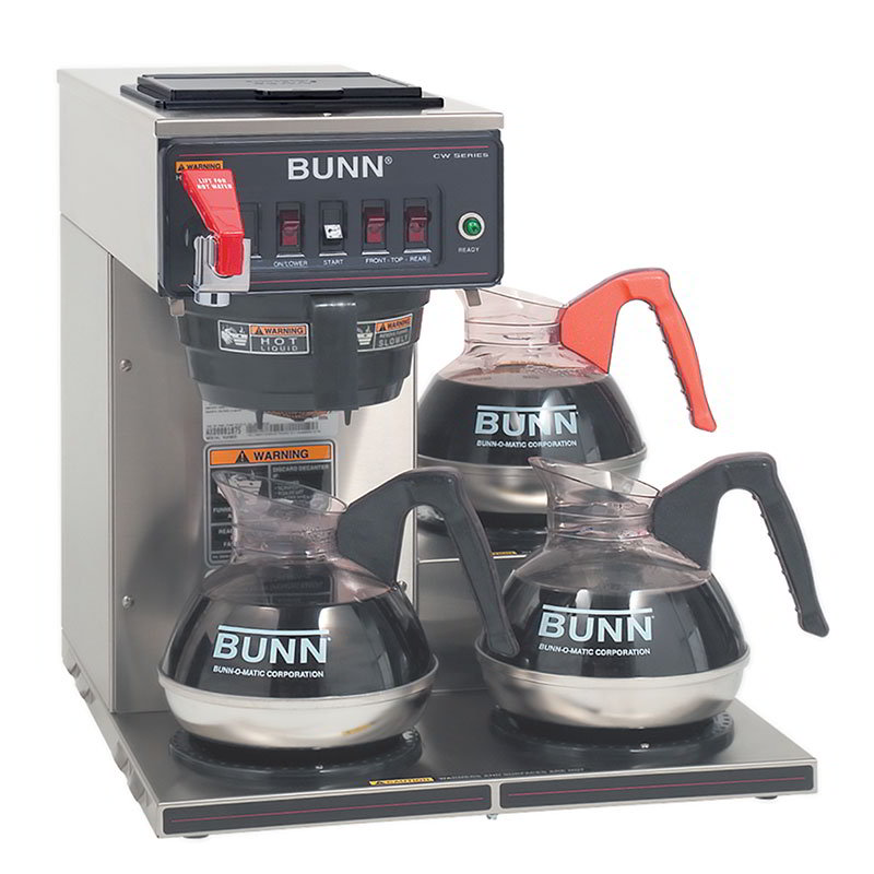 BUNN CWTF15-3-0212 Coffee Brewer, 3-Lower Warmers & Plast...