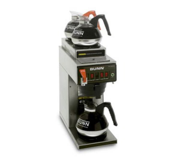 Bunn-o-matic 12950.0292 Coffee Brewer, 2-Upper/1-Lower Warmers, Pourover Feature, 120 V