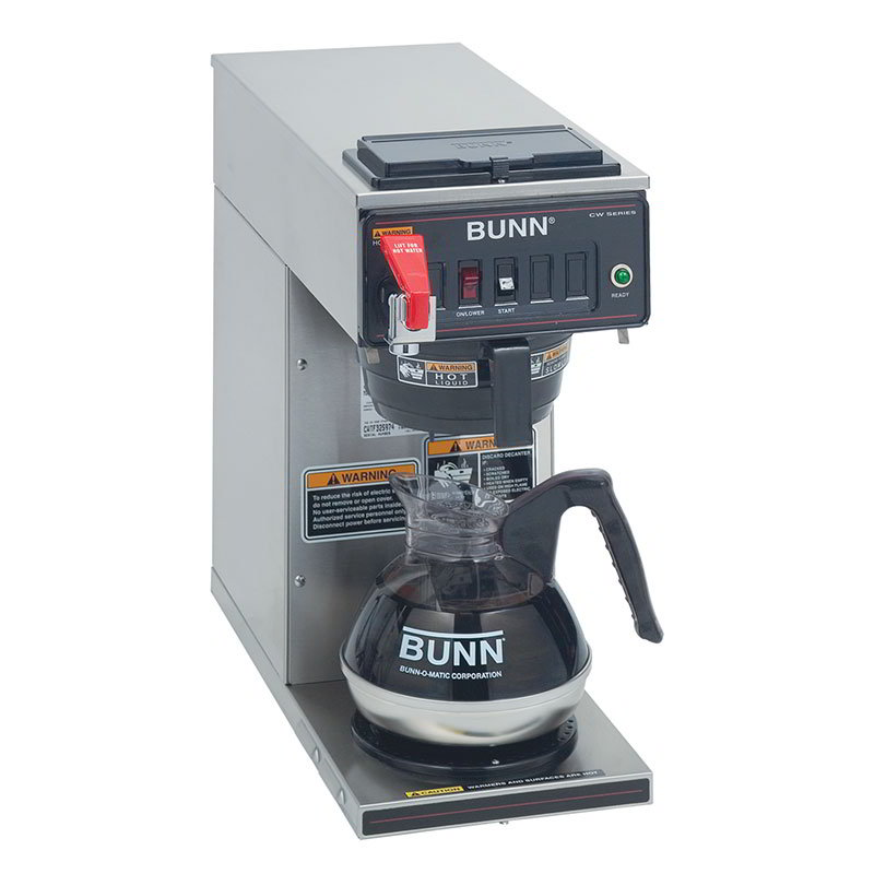 Bunn CWTF15-1 Coffee Brewer - 1-Lower Warmer, Faucet, Plastic Funnel, 120v (12950.0293)