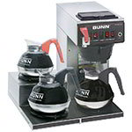 Bunn-o-matic 12950.0212 Coffee Brewer, 3-Lower Warmers & Plastic Funnel, 120 V