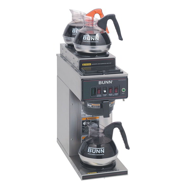 Bunn-o-matic 12950.0356 Coffee Brewer, 2-Upper/1-Lower Warmers & Pourover Feature, 120 V