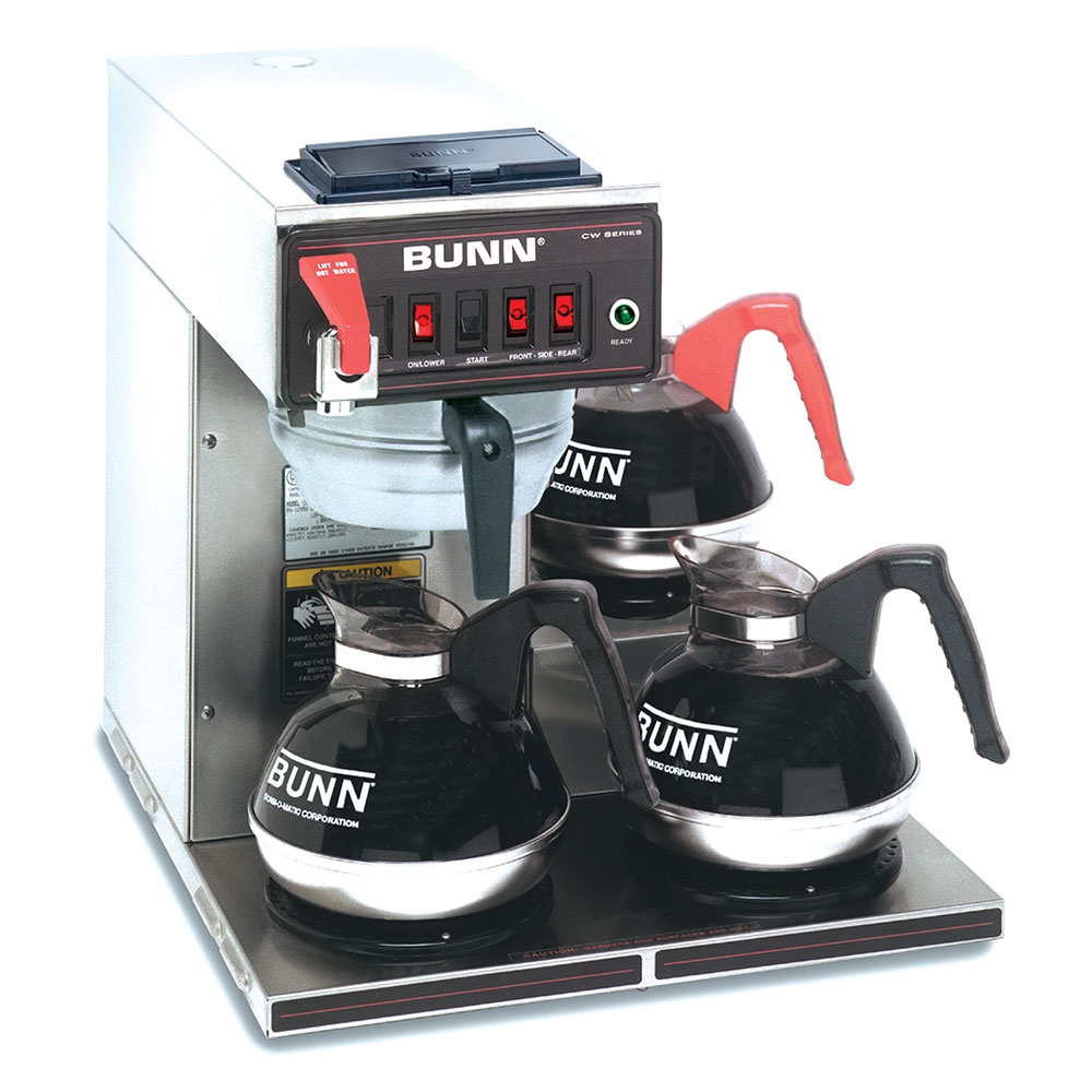 Bunn CWTF-DV-3-0409 Automatic Coffee Brewer w/ (3) Lower Warmers, 120v (12950.0409)