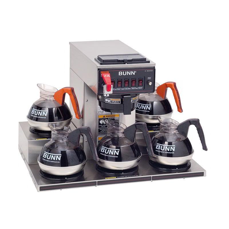 Bunn-o-matic 13250.0025 CRTF5-35 Automatic Coffee Brewer, 5 Warmers, 120/208-240V