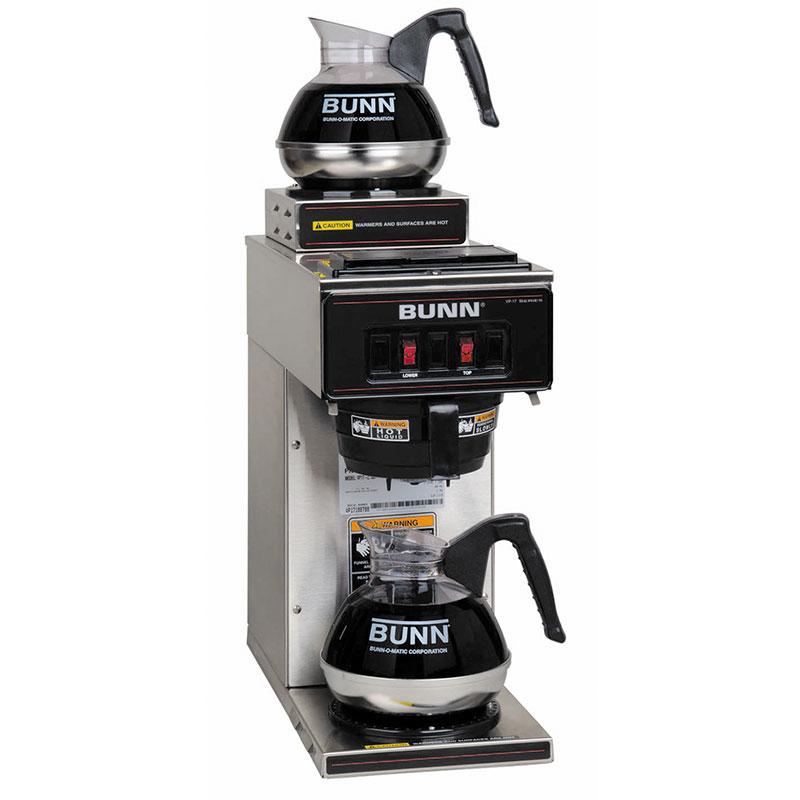 Bunn VP17-2 Pourover Coffee Brewer, 1 Upper/1 Lower Warmers (13300.0002)