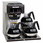 Bunn VP17-3 Pourover Coffee Brewer, 3 Lower Warmers (13300.0003)