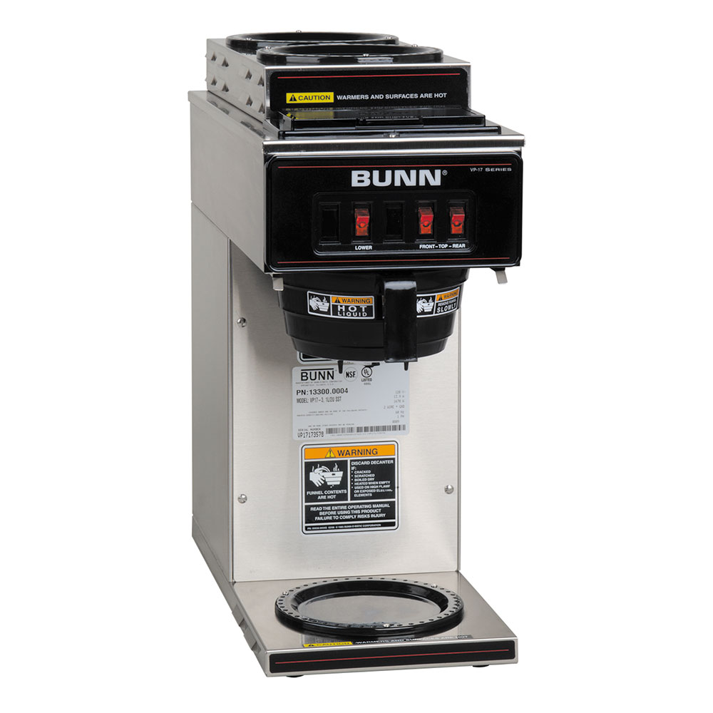 Bunn VP17-3 Pourover Coffee Brewer, 2 Upper/1 Lower Warmers (13300.0004)
