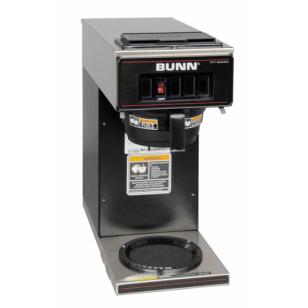Bunn VP17-1 Pourover Coffee Brewer, 1 Warmer, Black (13300.0011)