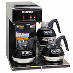 Bunn VP17-3 Pourover Coffee Brewer, 3 Lower Warmers (13300.0013)