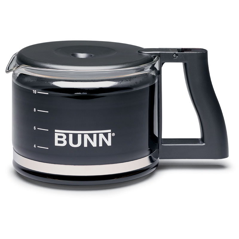 BUNN-O-Matic 20435.0000 Coffee Decanter, Glass, Black, For Use With A10, A10A Brewers