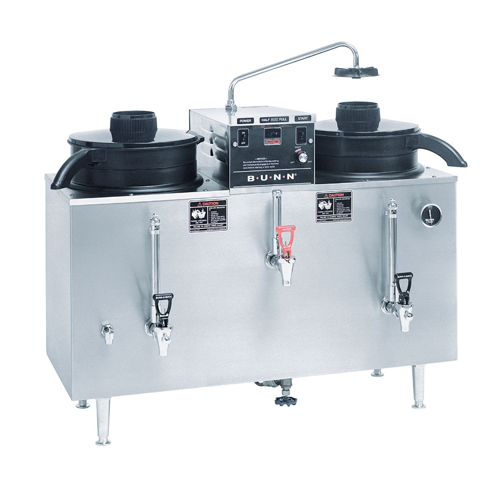 Bunn U3-0000 U3 Twin Automatic Electric Coffee Urn, 120/208V (20500.0000)