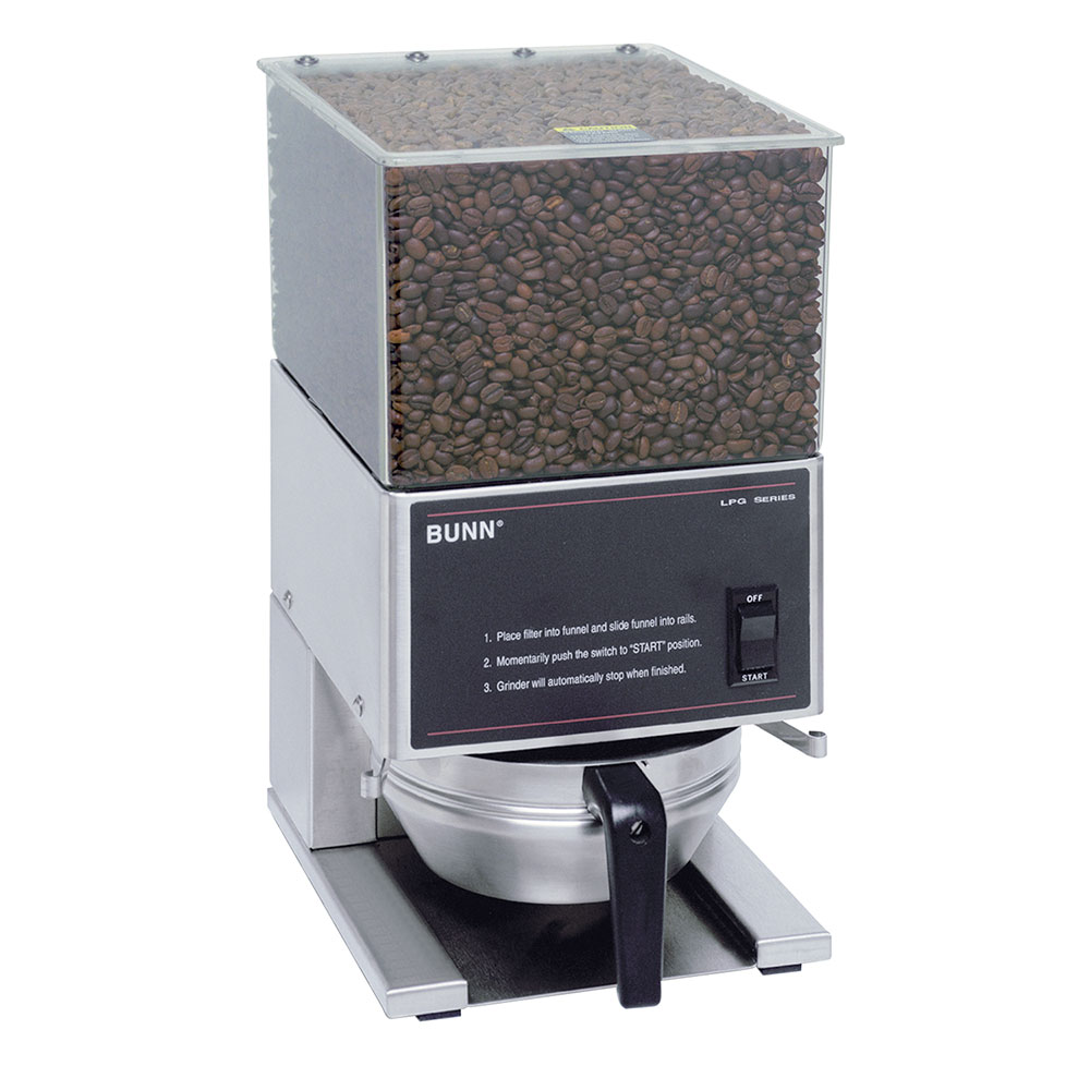 Bunn-o-matic 20580.0001 LPG Low Profile Portion Control Coffee Grinder, 1 Hopper, S/S Finish