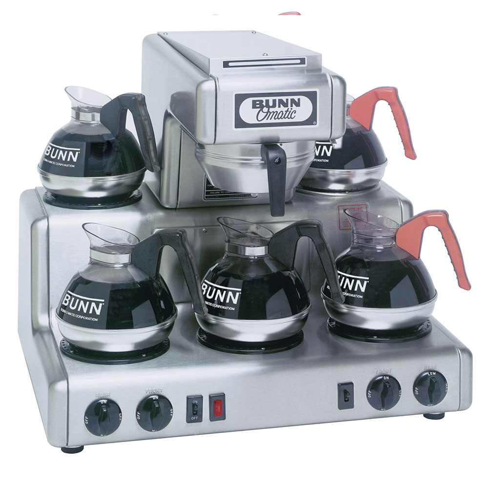 Bunn RTF-0004 RTF Automatic Coffee Brewer w/ (5) Warmers, Hot Water Faucet (20835.0004)