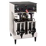 Bunn DUAL-0008 Dual Satellite Coffee Brewer W/Server, Plastic Funnel, 120/208v (20900.0008)