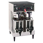 Bunn DUAL-0011 Dual Satellite Coffee Brewer W/Servers, Stainless Funnel, 120/240v (20900.0011)