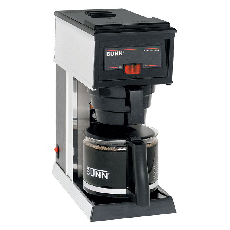 Bunn A10-0000 10-Cup A10 Pourover Coffee Brewer w/ Warmer & Decanter