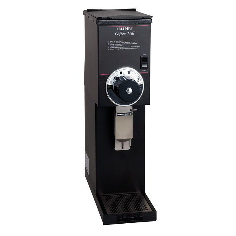 BUNN-O-Matic 22102.0000 G2 HD Black Bulk Coffee Grinder, 2 lb Hopper, Black Finish