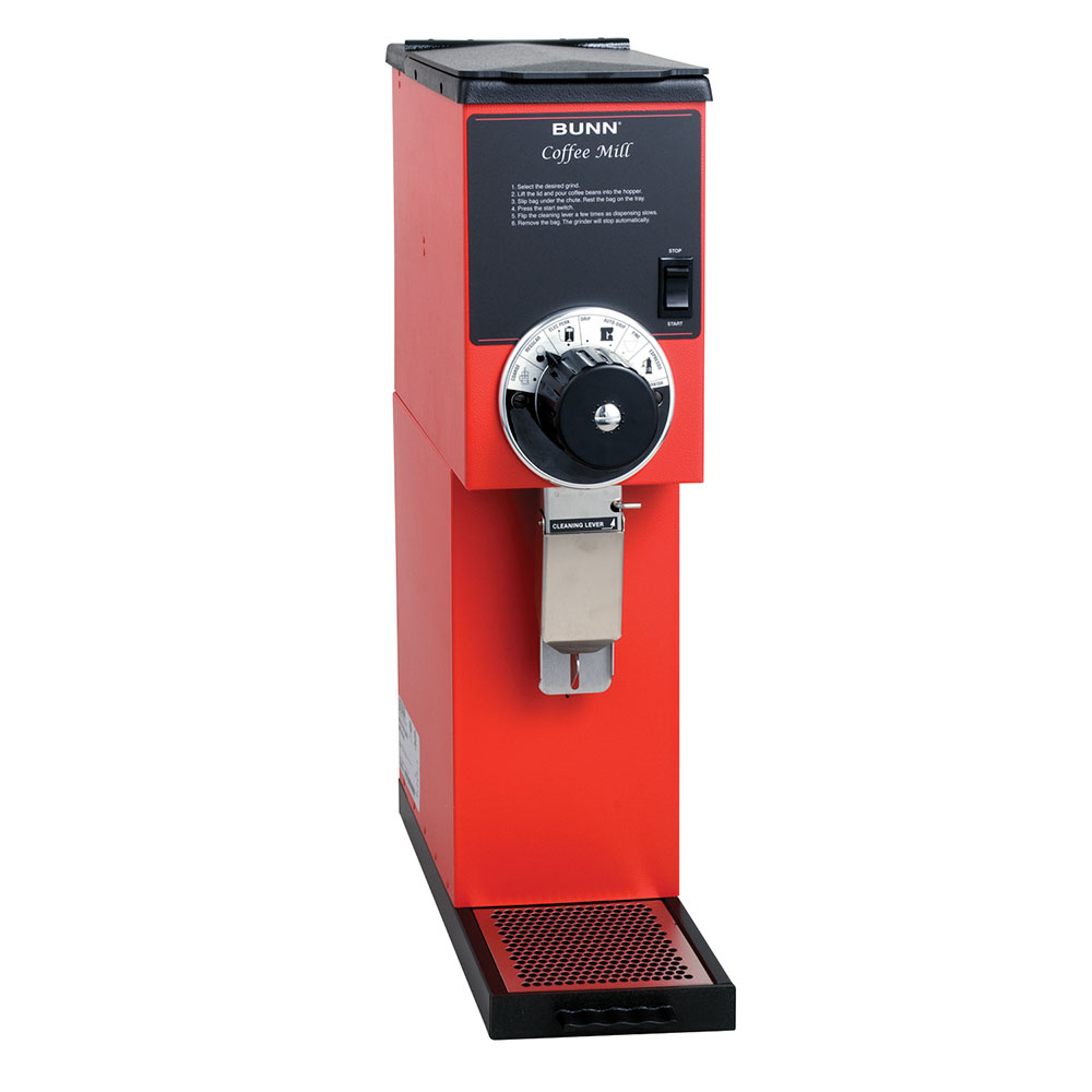 Bunn G2-0001 G2 HD Red Bulk Coffee Grinder, 2 lb Hopper, Red Finish