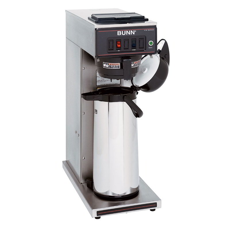 Bunn CWT15-APS-0003 CWT15-APS Airpot Coffee Brewer,  Auto, Black Plastic Funnel, 120V (23001.0003)