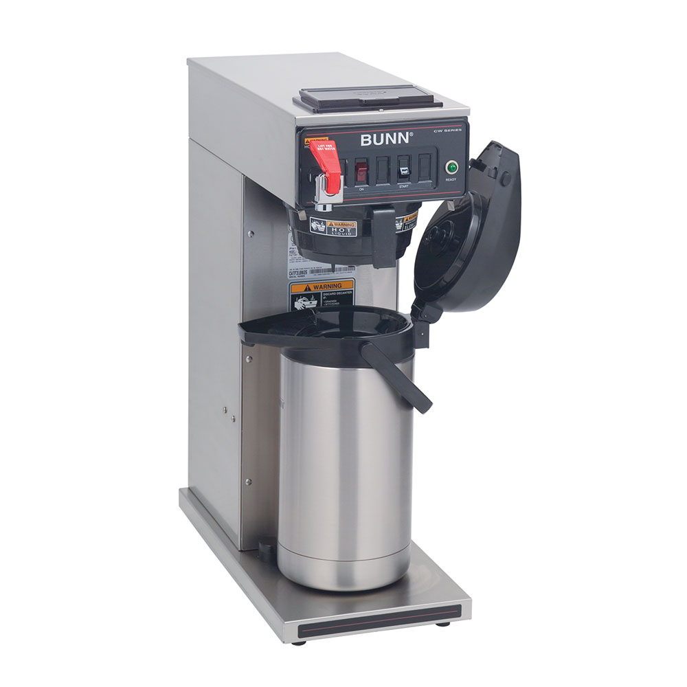Bunn CWTF-APS-DV-0058 CWTF APS-DV Dual Voltage Airpot Coffee Brewer, Black Plastic Funnel (23001.0058)
