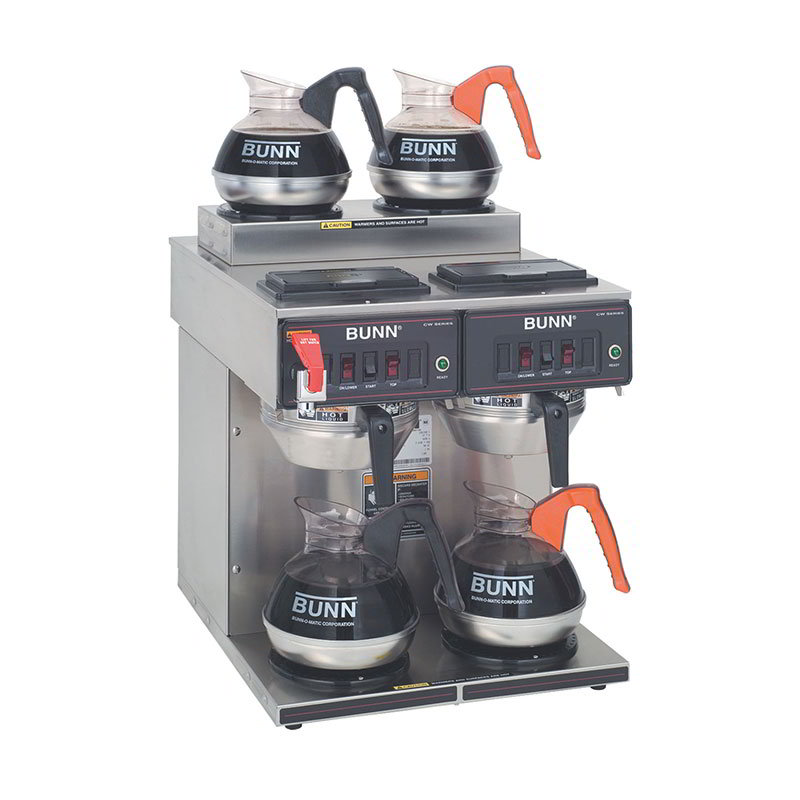 Bunn CWTF-2/2-0001 Automatic Coffee Brewer w/ (2) Upper & (2) Lower Warmers, 120/240v (23400.0001)