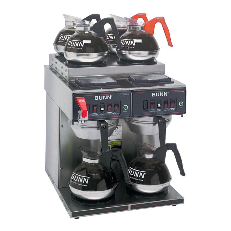 Bunn CWTF-4/2-0011 Coffee Brewer, 4-Upper/2-Lower Warmers, Pourover Feature, Faucet (23400.0011)