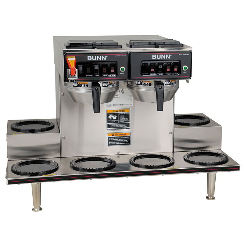 Bunn CWTF-0/6-0020 CWTF Automatic Coffee Brewer w/ 6 Warmers, 2 Brew Heads (23400.0020)