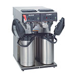 Bunn CWTF-APS-0046 CWTF Twin APS Twin Airpot Coffee Brewer, Gourmet Funnel, 120/240V
