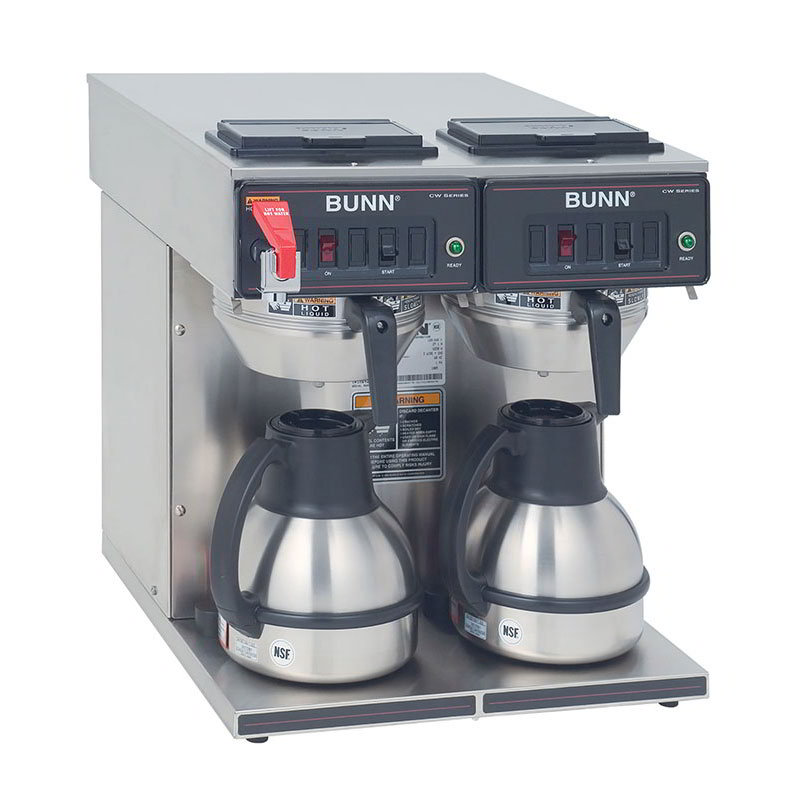 BUNN-O-Matic 23400.0047 CWTF Twin-TC Twin Thermal Carafe Coffee Brewer, S/S Funnel, Faucet
