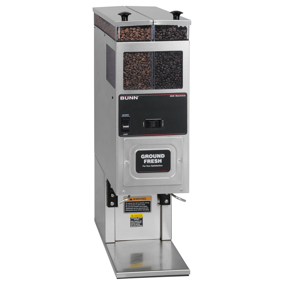 Bunn-o-matic 24250.0021 Coffee Grinder, 2-Hoppers & Brewer Interface, Accepts Large Funnel