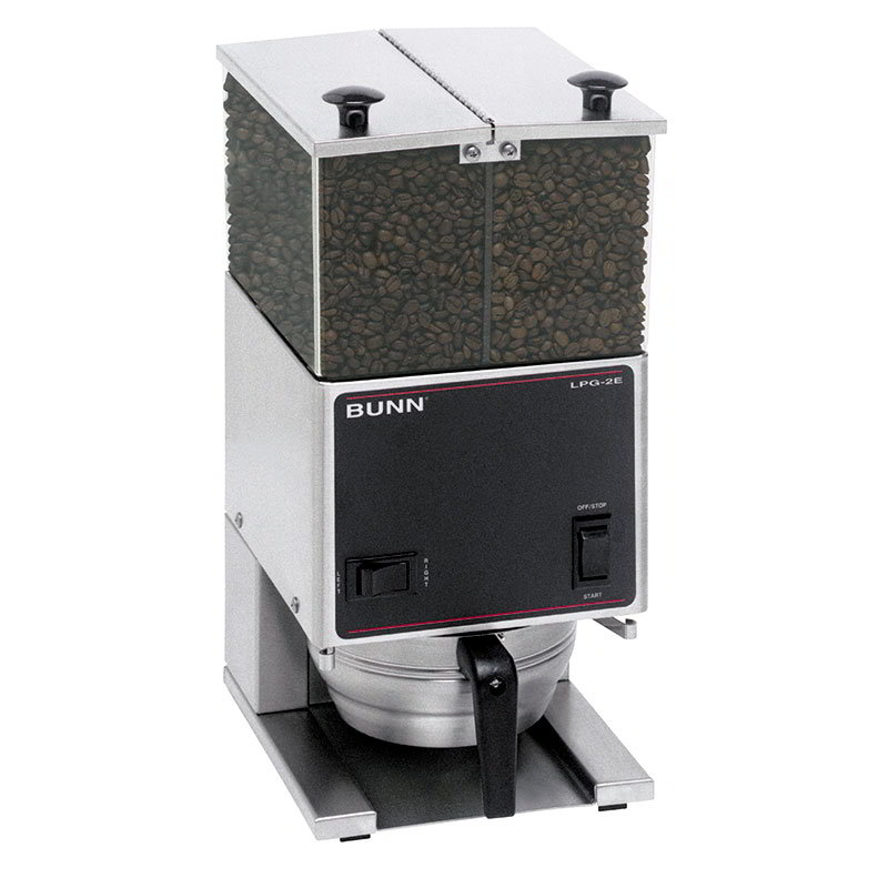 Bunn LPG-2E-0001 Low Profile Portion Control Coffee Grinder, 2-Hoppers & Legs (26800.0001)