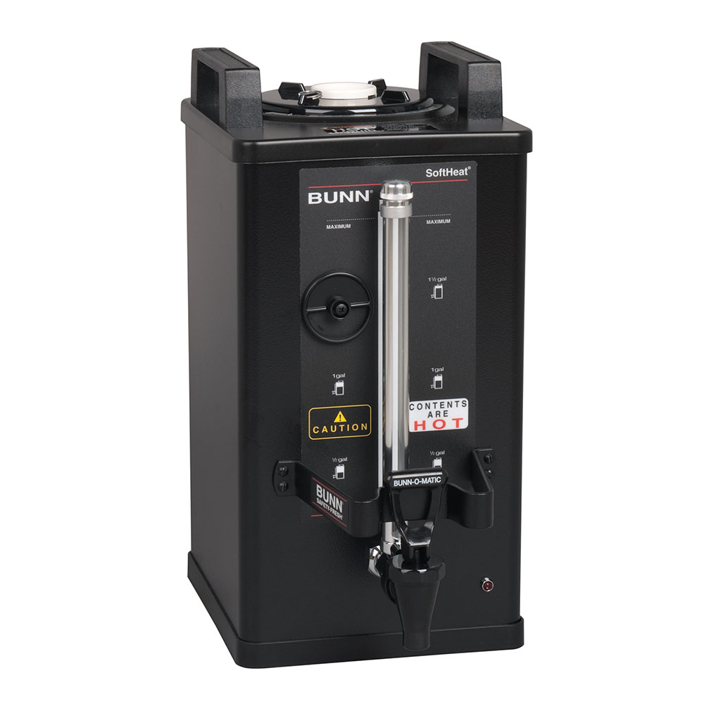 Bunn SH-1.5-0004 1.5-Gallon Satellite Brewer Server, 30 Min. Setting, Black Finish (27850.0004)