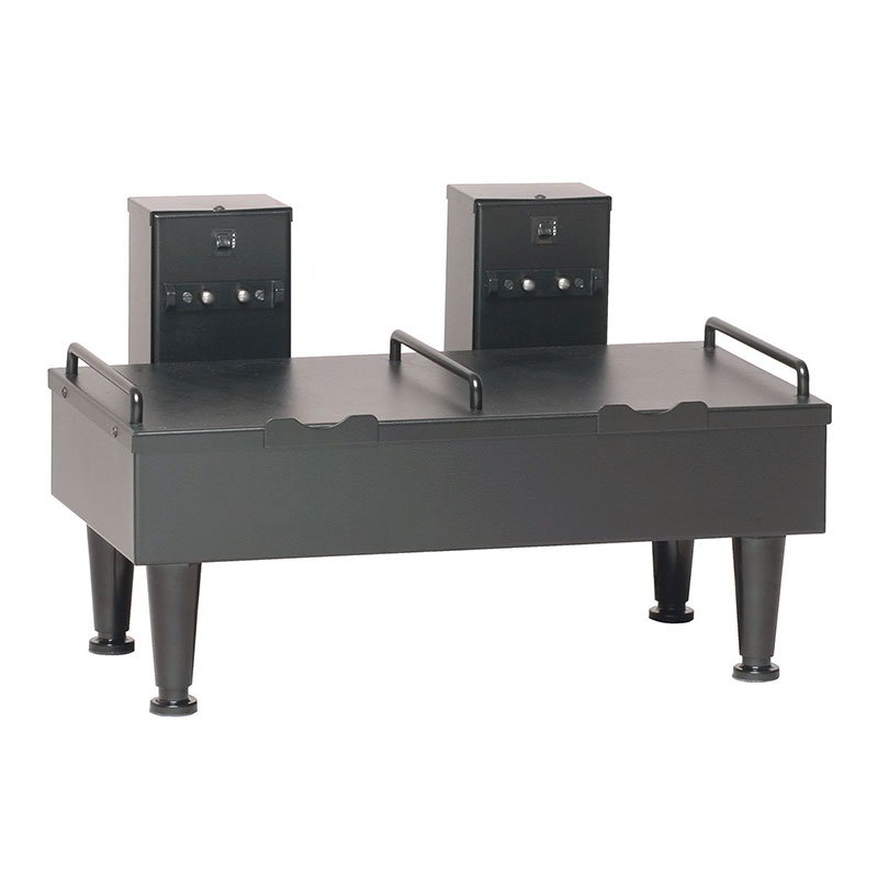 "Bunn SH-STAND-2-0003 2SH Stand for 2 Satellite Coffee Servers, Black Finish, 4"" Legs, 120V (27875.0003)"