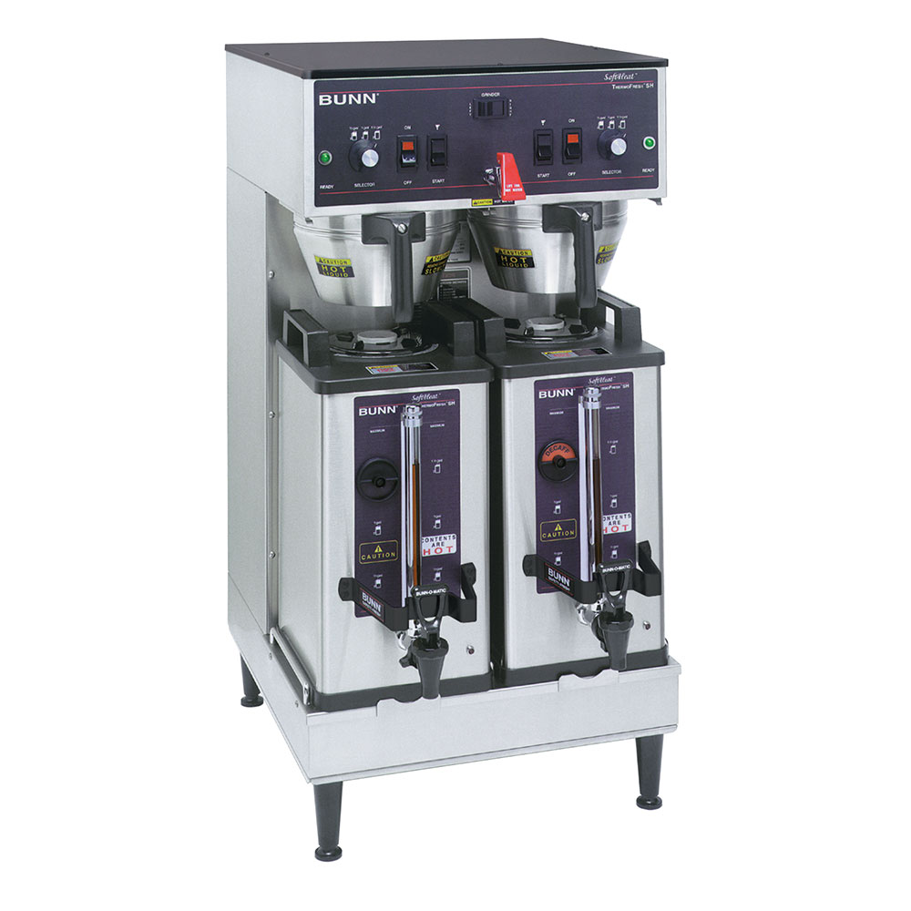 Bunn SH-DUAL-0002 Dual SH Dual Satellite Coffee Brewer, Stainless, 120/240v (27900.0002)