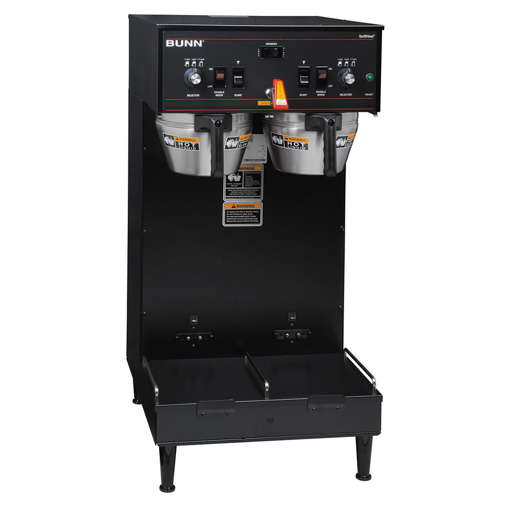 Bunn 27900.0020 Dual SH Dual Satellite Coffee Brewer, Black Finish, 120/208V