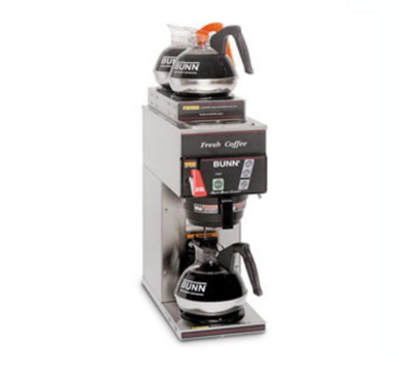 Bunn-o-matic 28800.0303 CDBCFP15 Automatic Digital Coffee Brewer, 2 Upper/1 Lower Warmers