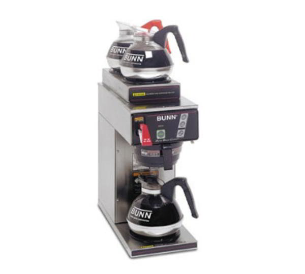 BUNN-O-Matic 29000.0031 CDBCF APS 35 Dual Voltage Digital Airpot Coffee Brewer, Black Funnel