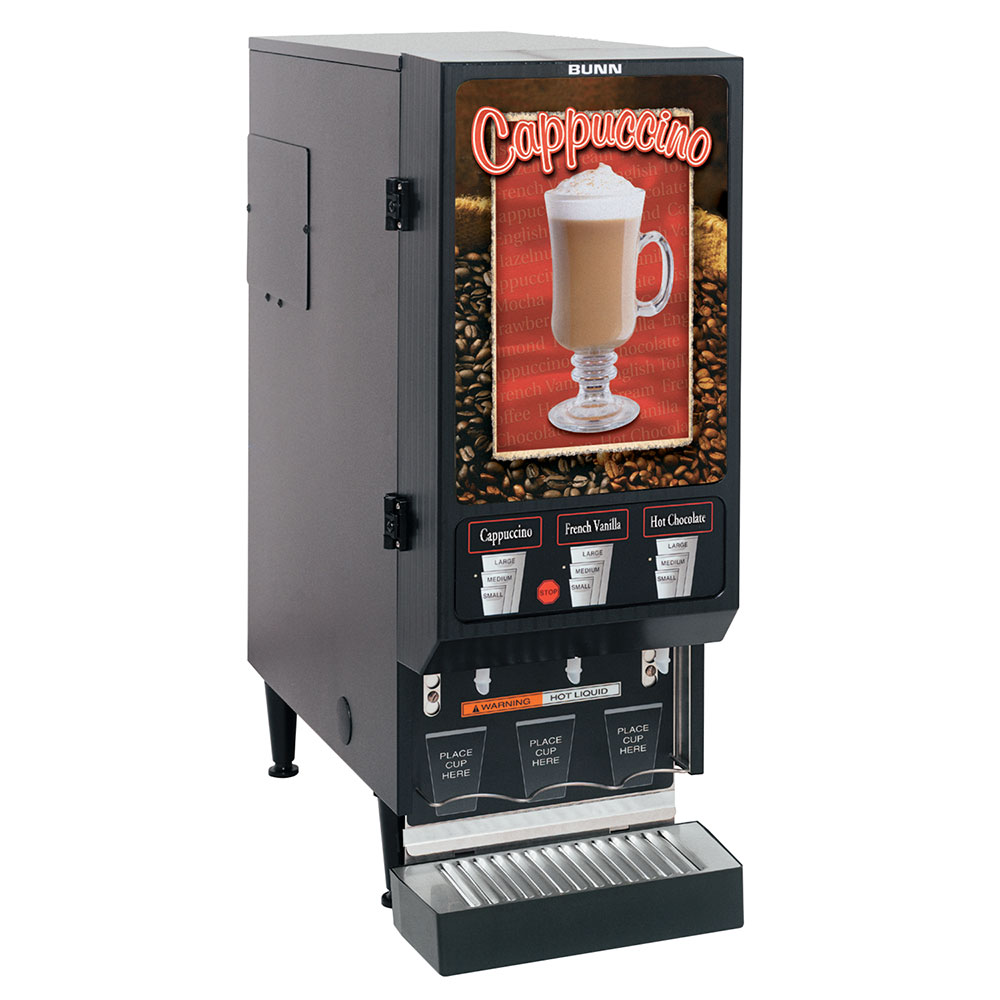BUNN FMD-3-DBC-0000 Hot Powdered Drink Machine, 3-Hoppers...