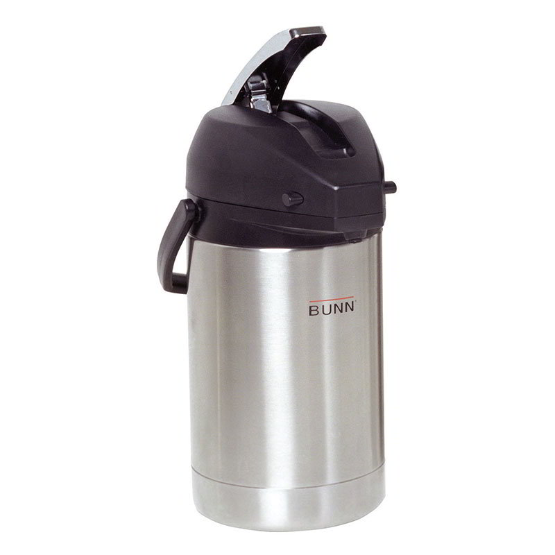 Bunn AIRPOT-2.5L-0100 84 oz Airpot, Lever Action, Stainless Liner (32125.0100)