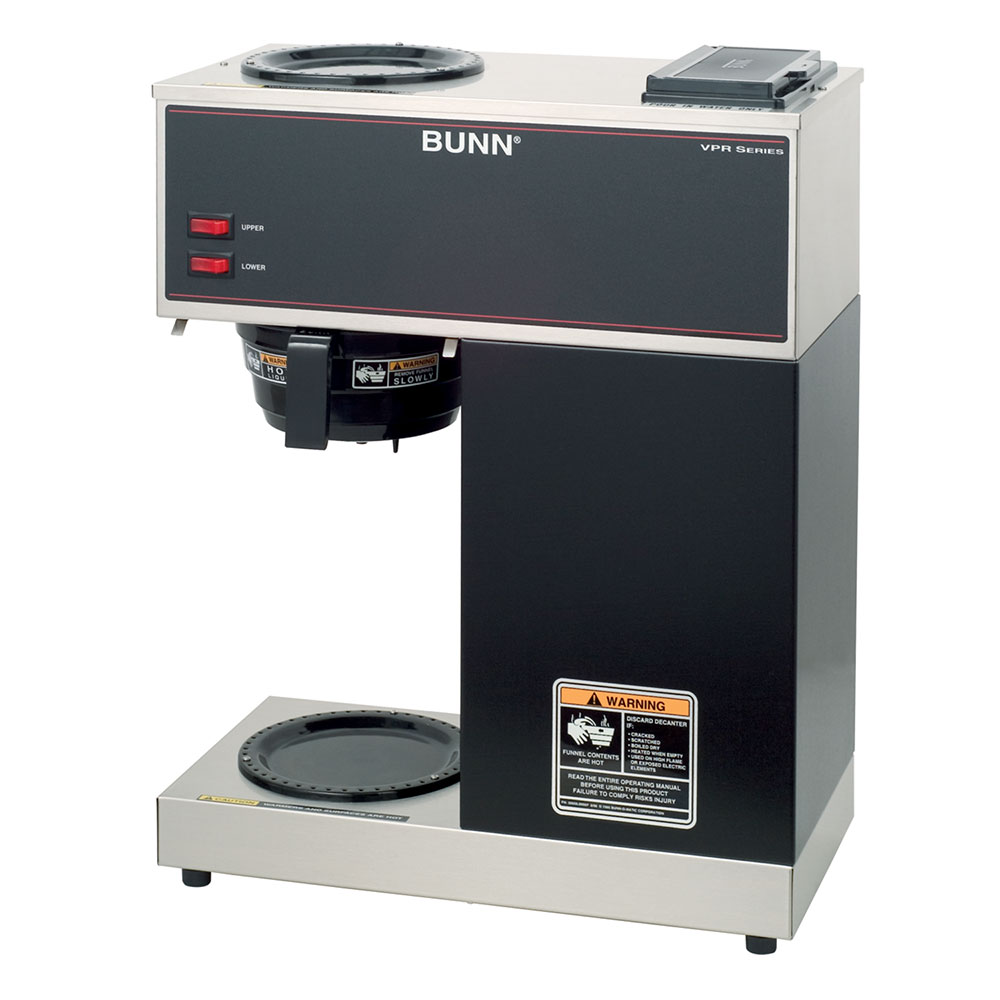Bunn 33200.0000 VPR Pourover Coffee Brewer, 2 Warmers