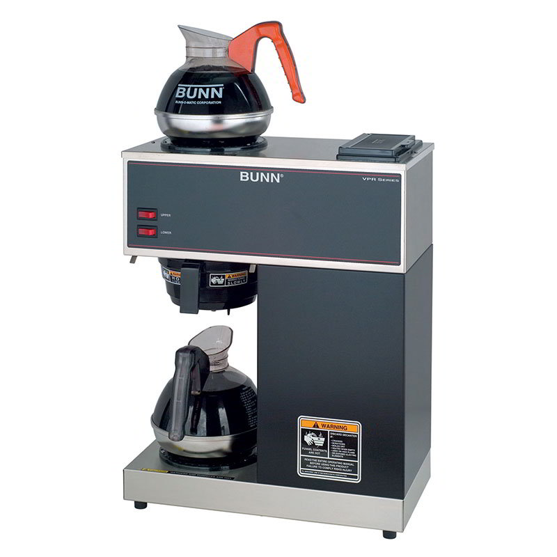 BUNN-O-Matic 33200.0002 Pourover Coffee Brewer, Lower/Upper Warmer, Decanters, 120 V