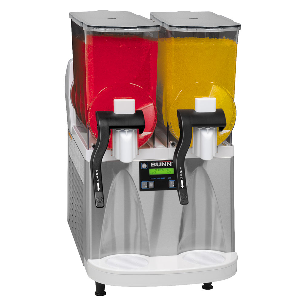 Bunn ULTRA-2-0012 ULTRA-2 Frozen Drink Machine, S/S/ White Finish, Flat Lid (34000.0012)