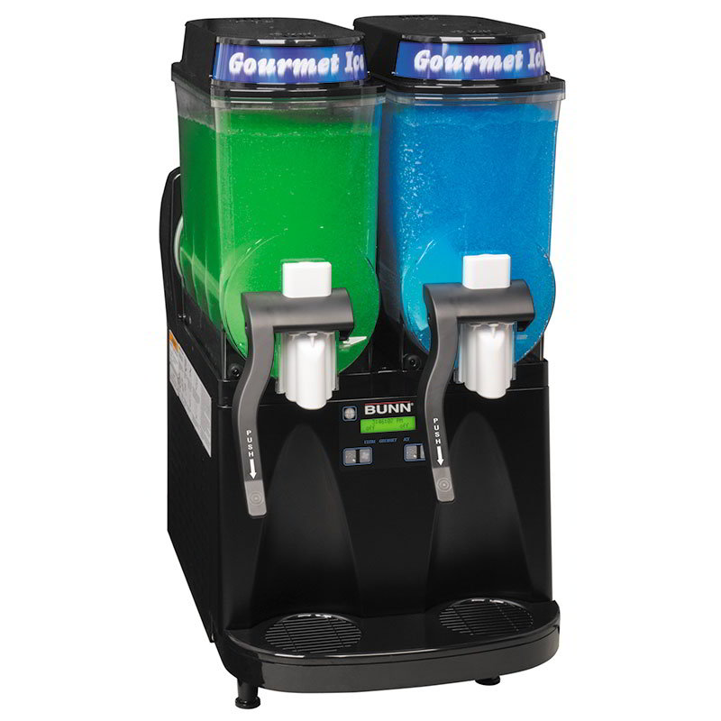 Bunn ULTRA-2-0080 Ultra Gourmet Ice Frozen Drink Machine - (2) 3-gal Hoppers, Black