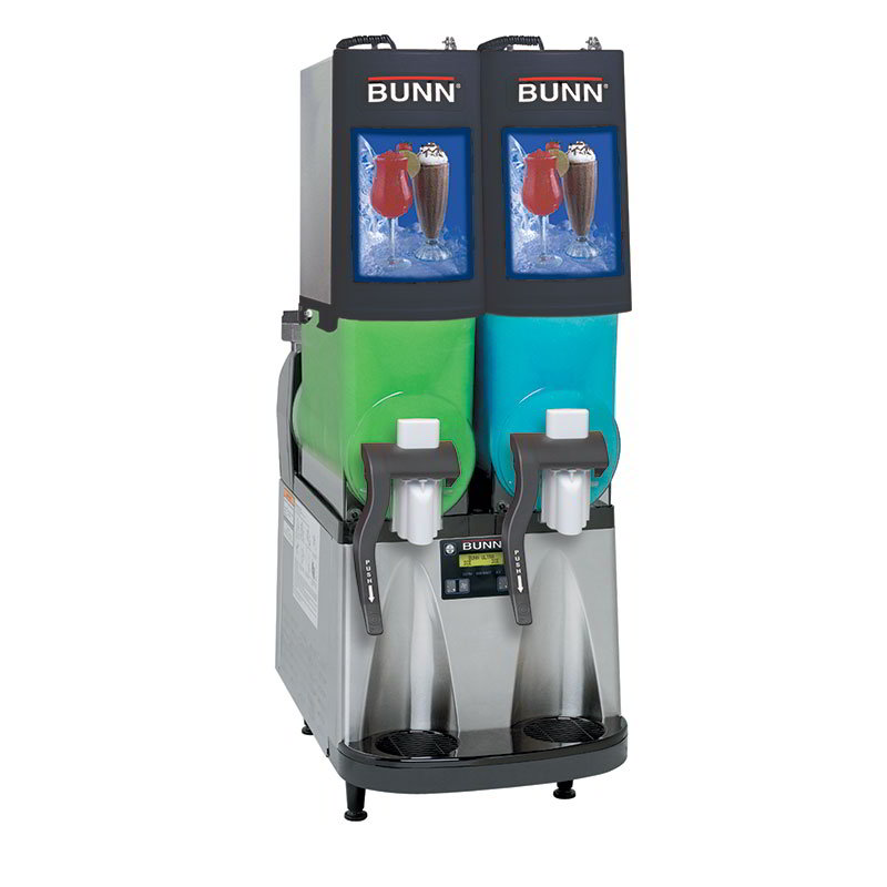 Bunn ULTRA-2PAF-0504 Frozen Drink Machine, (2) 2-gal Hoppers & Touchpad Display, Stainless, Black