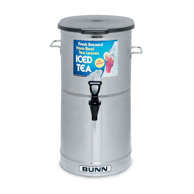 Bunn TDO-4-0000 TDO-4 Iced Tea Dispenser, Oval,  Plastic Lid, 4 Gallon