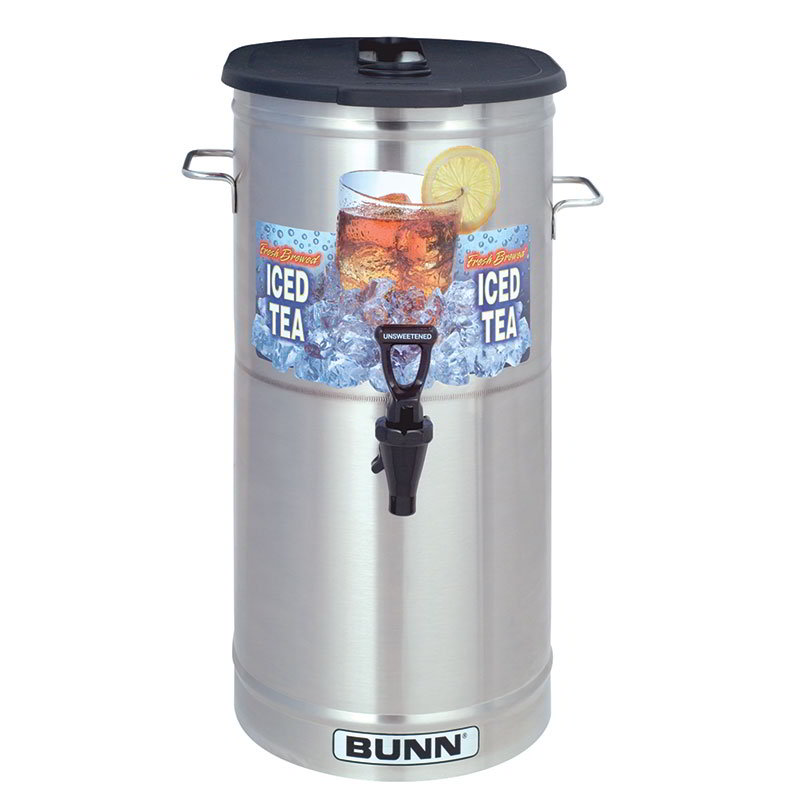 Bunn TDO-4-0002 TDO-4 Iced Tea Dispenser, Oval, Brew-Through Plastic Lid, 4 Gallon