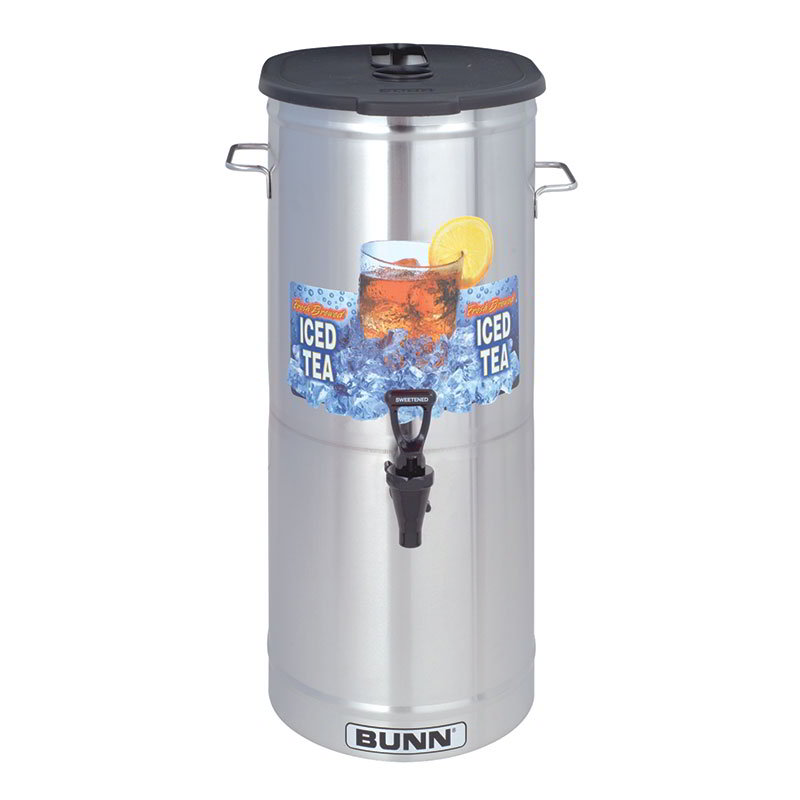 Bunn TDO-5-0003 TDO-5 Iced Tea Dispenser, Brew-Through Plastic Lid, 5 Gallon (34100.0003)