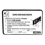 Bunn RECIPE-CARD-0000