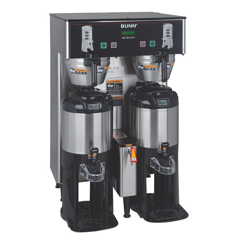 Bunn TF-DUAL-DBC-0006 Dual Satellite Digital Coffee Brewer w/ Funnel Lock, 120-208v/1ph (34600.0006)